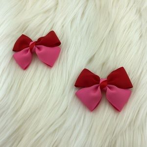 Accessories - Grosgrain head bow set pink, red and green